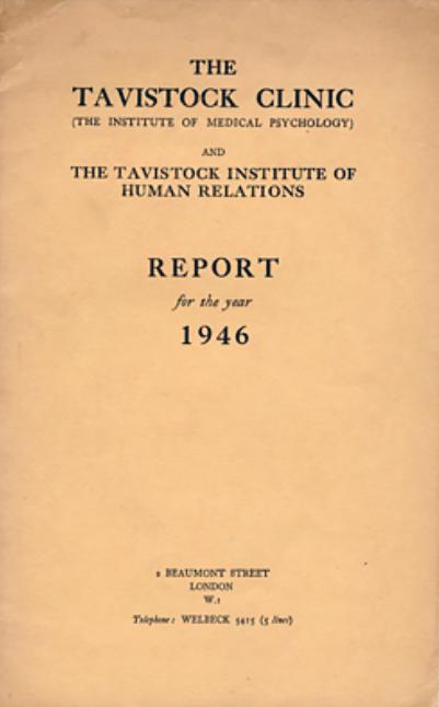 Tavistock Clinic Annual Report 1946
