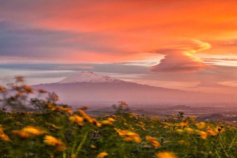 Etna e piana di Catania
