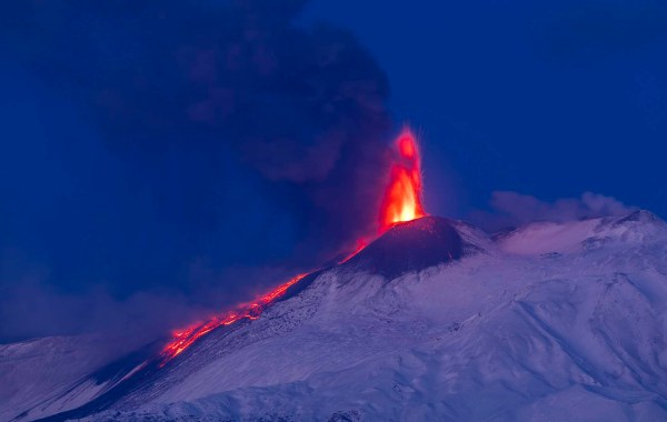 Etna, parossismo del 24 marzo 2021, crateri sommitali