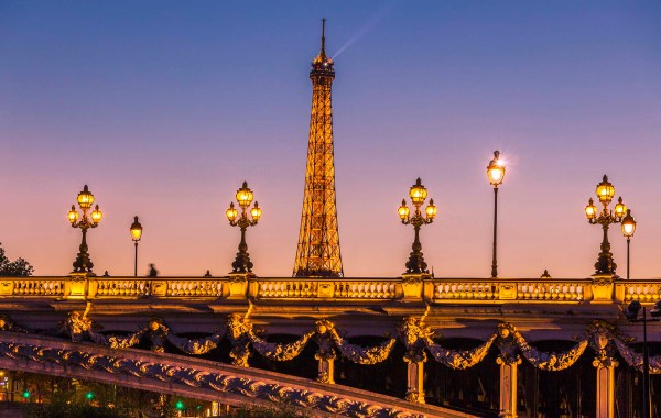 Parigi, il ponte Alexsander III e la torre Effel