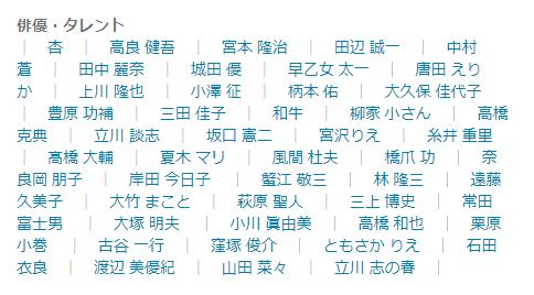 ナレーター(俳優・タレント)