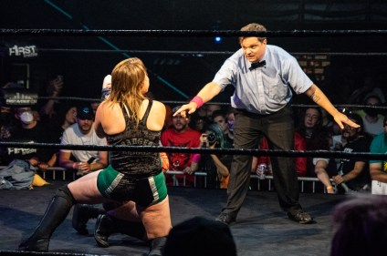 First Wrestling Wrestlepalooza Badger Briggs vs Free Range Kara 00891