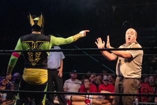 First Wrestling Wrestlepalooza Iron Rebel Renny D vs Brandon Gore vs Scott Story vs Rylie Jackson vs Deputy Rob Justice vs Atomic Super Thunderfrog 01229