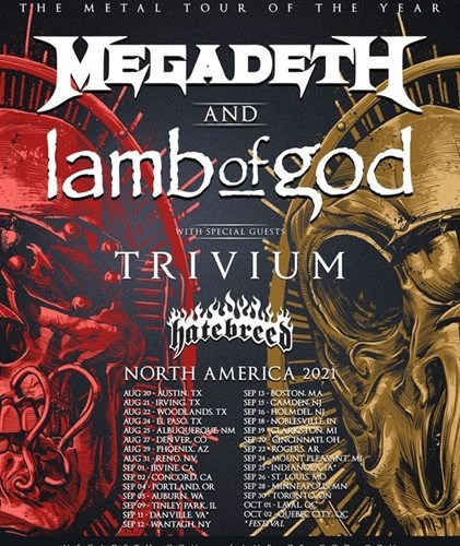 The Metal Tour of the Year hits the Armory on September 28, 2021