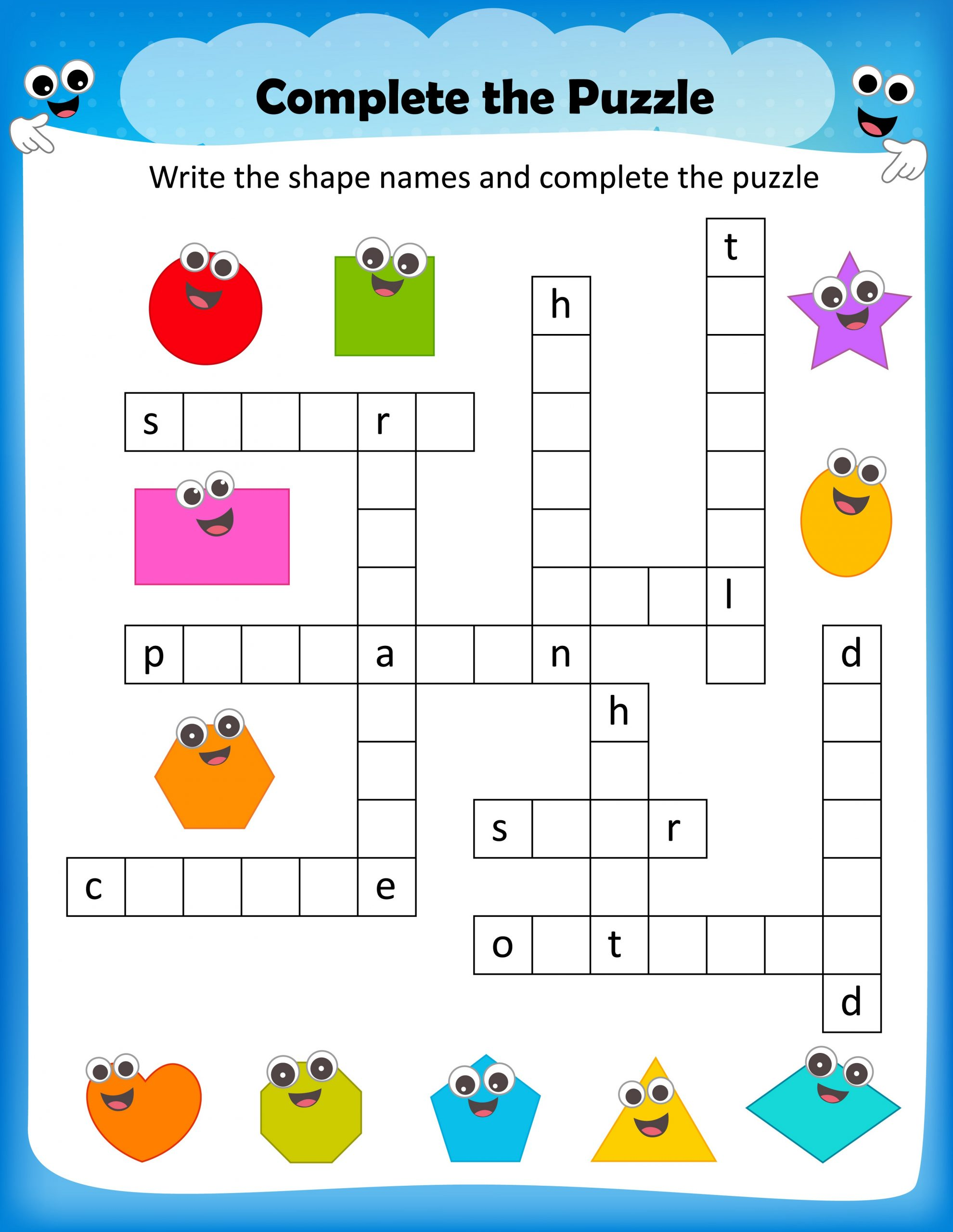 Printable Fun Crosswords For Kids