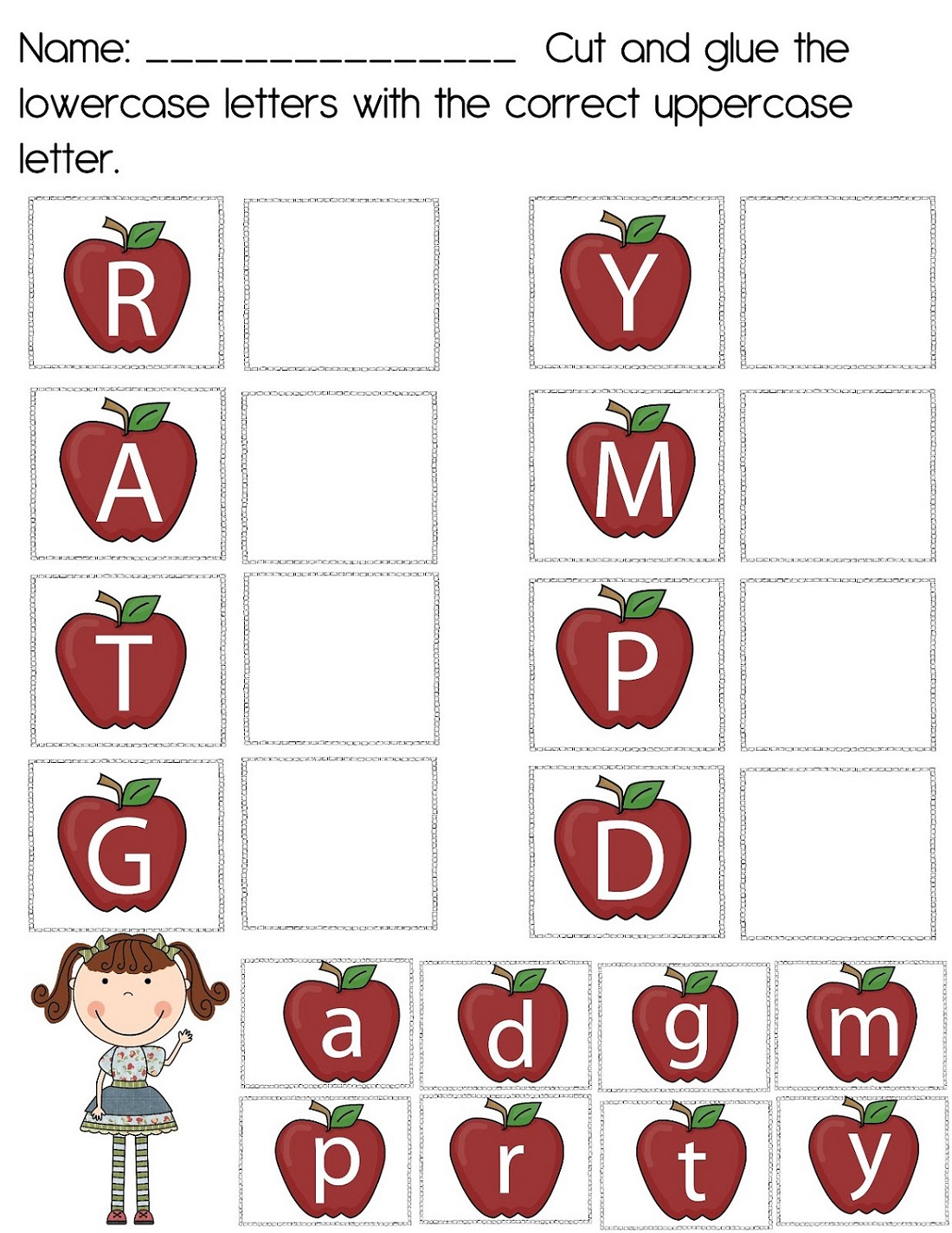 Uppercase And Lowercase Alphabet Worksheets