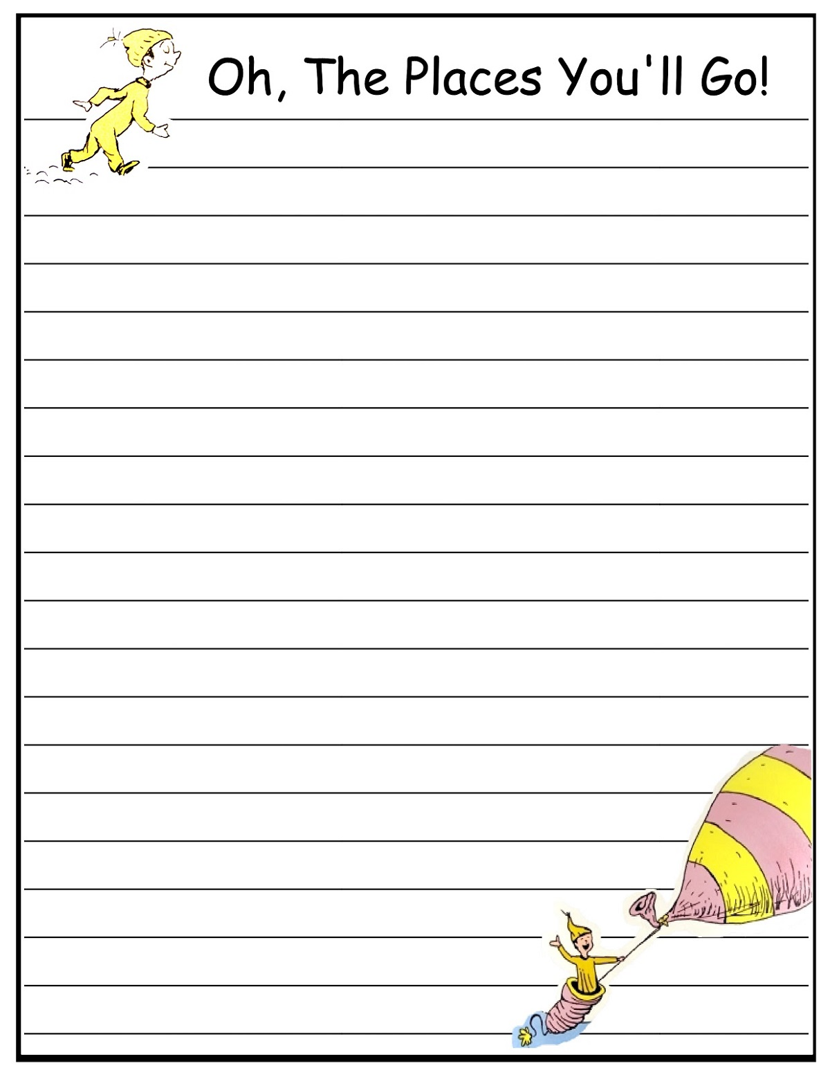 Free Lined Paper For Writing