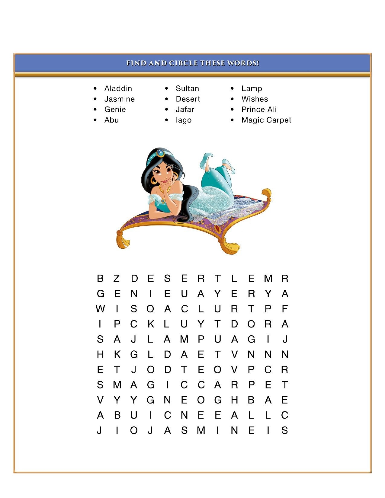 Disney Word Search Puzzles To Print