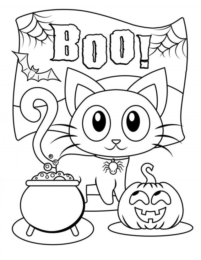 Cute Halloween Coloring Pages for Kids  24 Coloring