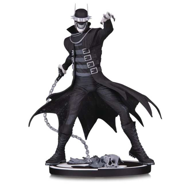 The Batman Who Laughts Statue Black and White
