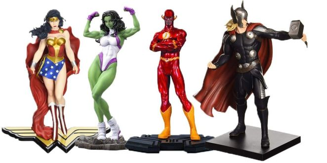 Comic Figures and Statues
