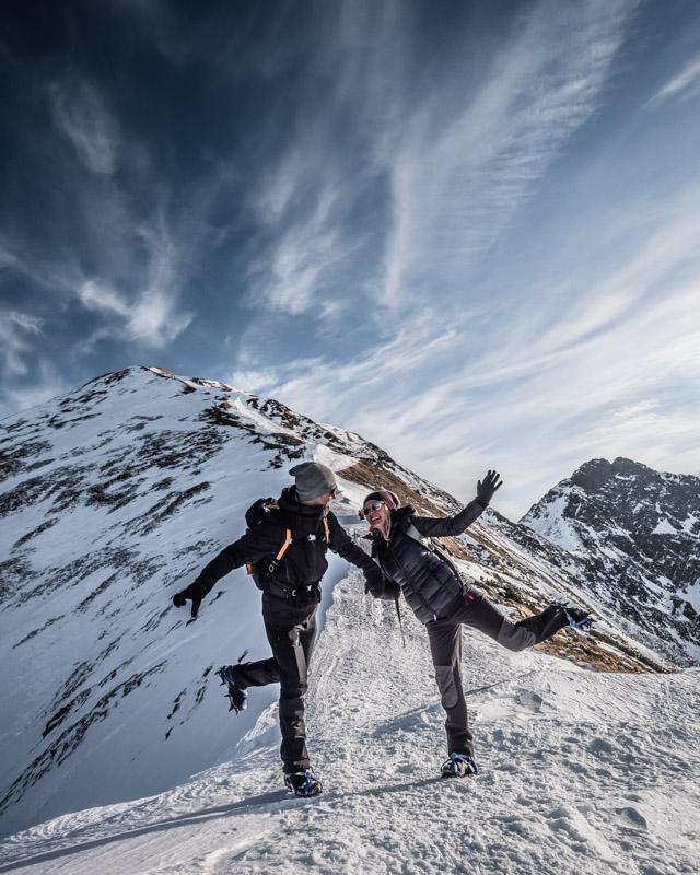 Góry zimą- Rakoń