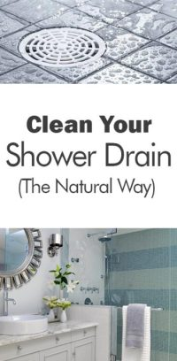 Clean Your Shower Drain (The Natural Way) - 101 Days of ...