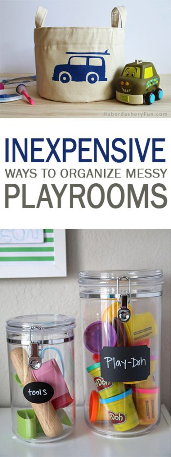 Inexpensive Ways To Organize Messy Playrooms  101 Days Of
