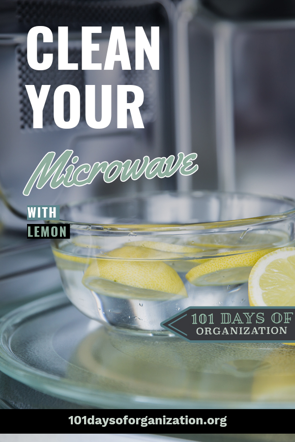 how to clean the microwave with lemon