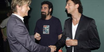 David Bowie, Serj Tankian of System of a Down, and Dave Gahan of Depeche Mode (Photo by KMazur/WireImage)