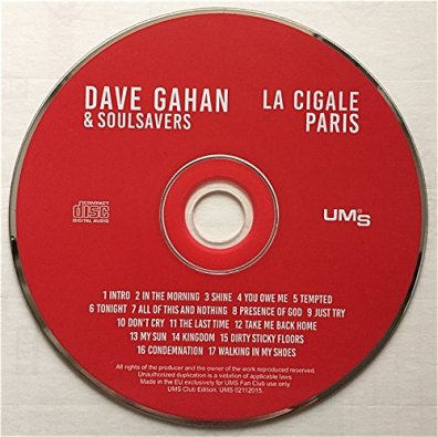 DAVE GAHAN & SOULSAVES Live in PARIS LA CIGALE 2015 CD (1)