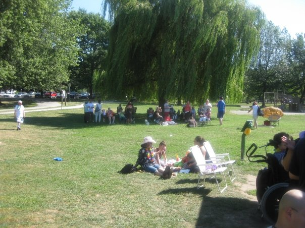 It was a perfect day for a picnic at Trout Lake