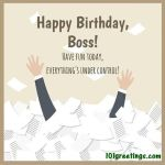 Professional birthday wishes professional birthday greetings for boss m4hsunfo