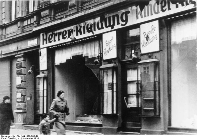 Magdeburg, zerstörtes jüdisches Geschäft