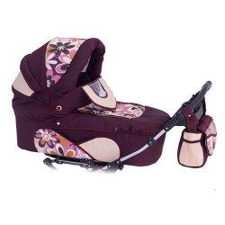 Детская коляска для двойни Reindeer Twin 2 в 1 (бордовый)