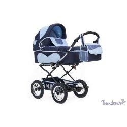 Детская коляска Reindeer Mega 2 в 1 (синий/голубой)