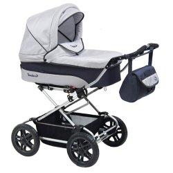 Детская коляска Reindeer Nova 2 в 1 (белый/синий)