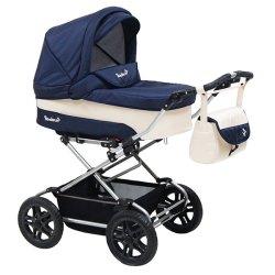 Детская коляска Reindeer Nova 2 в 1 (темно-синий/белый)