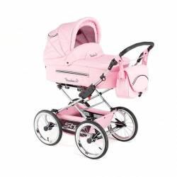 Детская коляска Reindeer Style Leather Collection 3 в 1 (розовый)