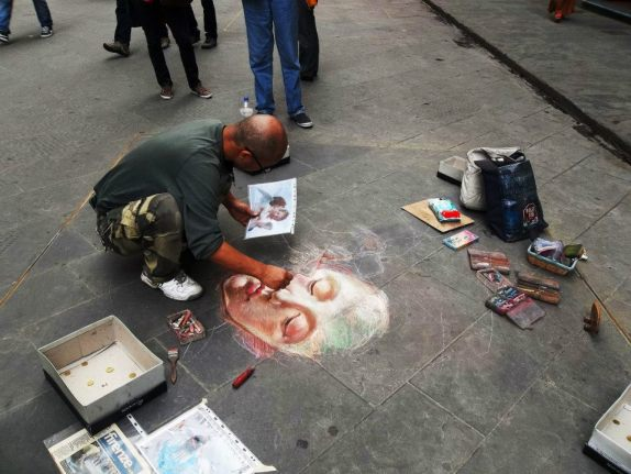 Arte callejero en Florencia