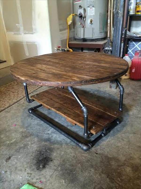 sofa chair with wheels recliners diy rustic pallet coffee table | 101 pallets
