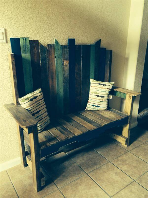diy sofa from pallets diplomat sleeper review rustic mud room storage bench | 101