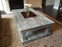 DIY Pallet Over-sized Distressed Coffee Table | 101 Pallets