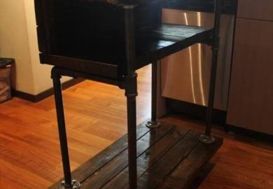 Diy Pallet Kitchen Cart