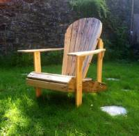Upcycled Pallet Adirondack Chair   101 Pallets