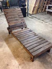 DIY Pallet Lounge Chair  Patio Furniture