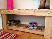 DIY Pallet Entryway Bench and Shoe Rack | 101 Pallets