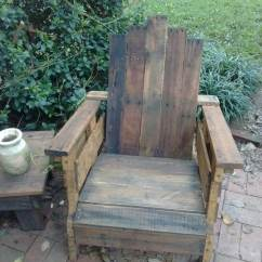 Rustic Outdoor Chairs Deluxe Folding Chair In A Bag Diy Pallet Adirondack Set 101 Pallets