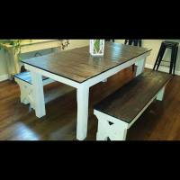 DIY Pallet Farmhouse Dining Table | 101 Pallets