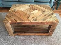Rustic Wood Pallet Coffee Table with Pattern | 101 Pallets