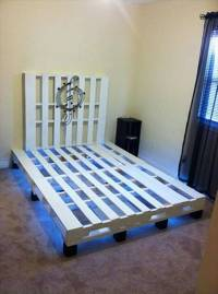 Pallet Bed With Under Lights | 101 Pallets