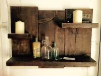 Antique Pallet Shelf / Toiletries Organizer | 101 Pallets