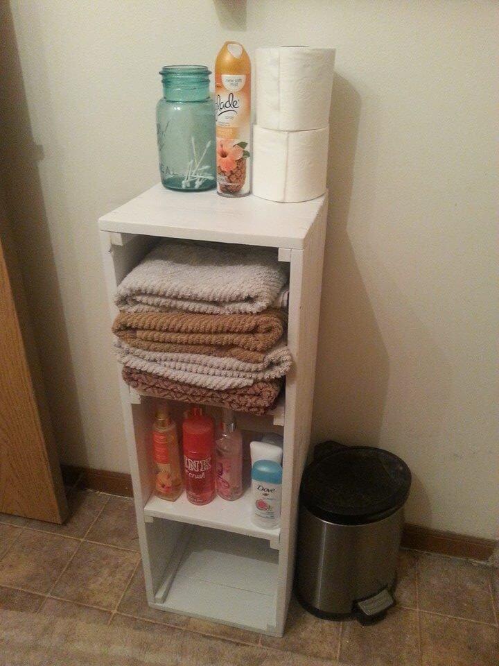 Pallet Shelf for Bathroom Vanity