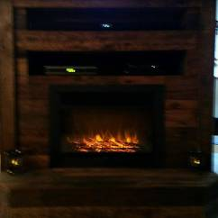 Heated Sofa Recliner Full Beds Pallet Tv Stand With Faux Fireplace | 101 Pallets