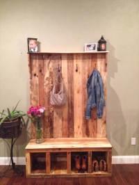 Pallet Hall Tree / Shoe Rack or Coat Rack | 101 Pallets