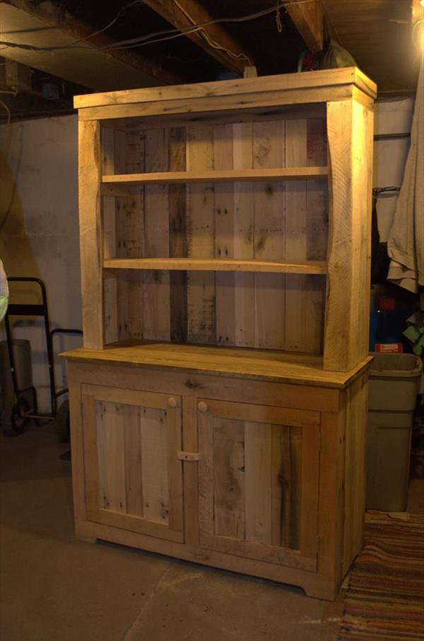 Pallet Wood Kitchen Hutch  101 Pallets