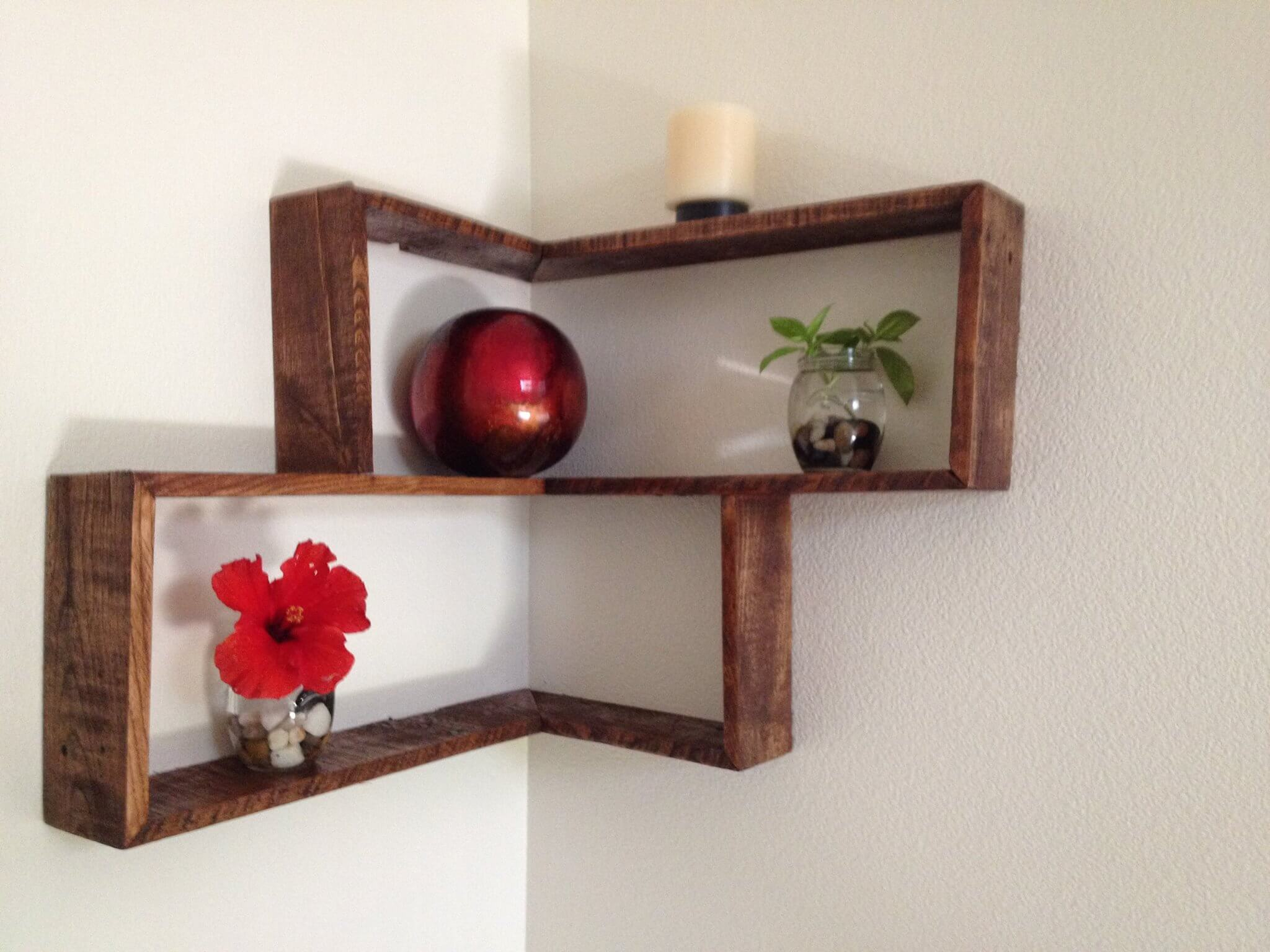Pallets Wood Decorative Shelf Ideas  101 Pallets