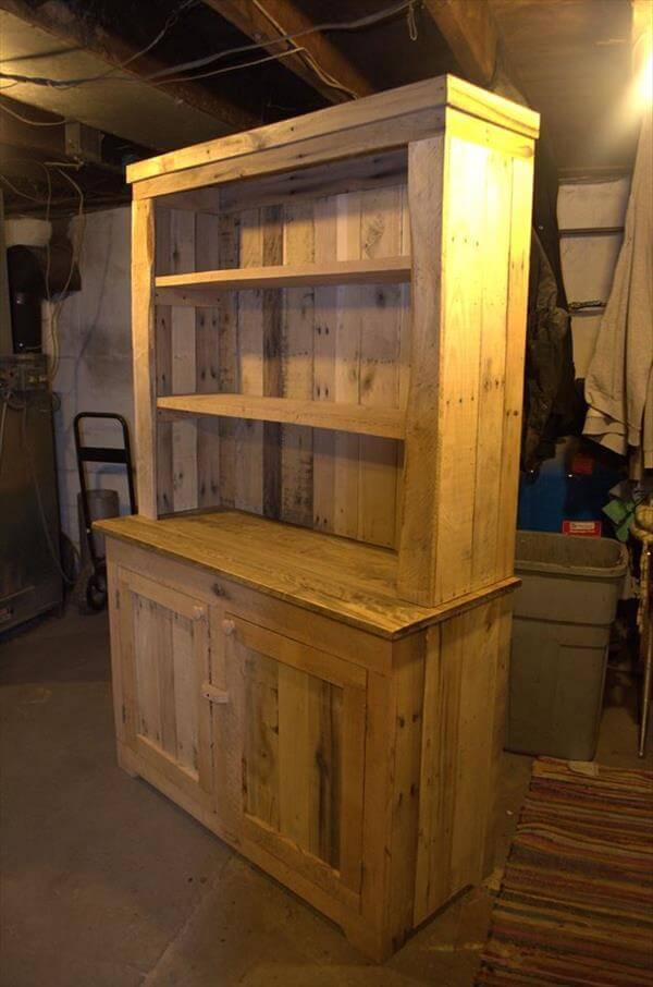 Pallet Wood Kitchen Hutch 101 Pallets