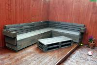 Pallet Corner Sofa and Table Set | 101 Pallets