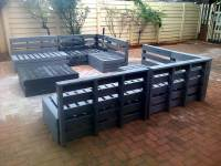 Superb Pallet Patio Furniture Set | 101 Pallets